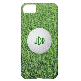 Golf Ball, Green grass monogram iPhone 5 case