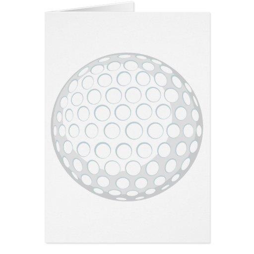 Golf Ball Greeting Card