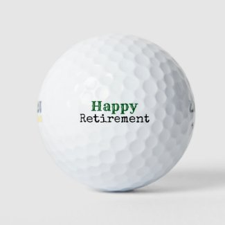 Golf ball Happy Retirement