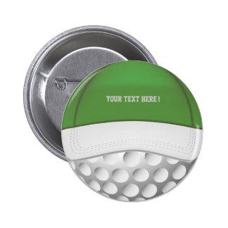 Golf Ball Hat Button