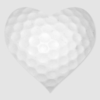 Golf Ball Heart Sticker