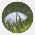 golf ball hiding classic round sticker