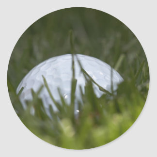 golf ball hiding classic round sticker