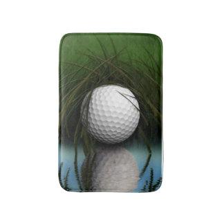 Golf Ball Hiding in Grass Sports Humor Bath Mat