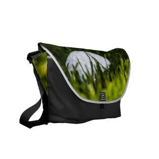 golf ball hiding remix messenger bag