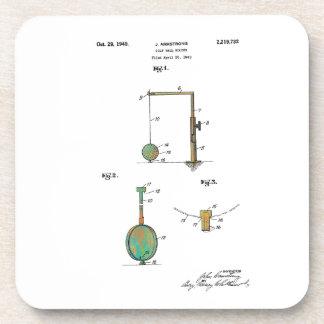 GOLF BALL HOLDER PATENT 1940 - Beverage Coaster