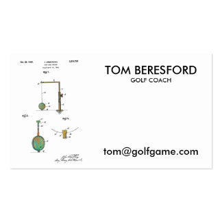 GOLF BALL HOLDER PATENT 1940 - business card