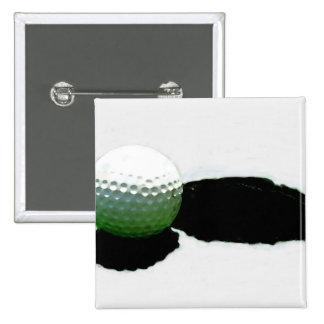 Golf Ball & Hole Pinback Button
