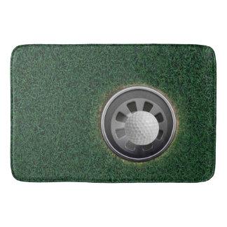Golf Ball in Cup in the Grass Bath Mat