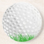 """Golf ball in Grass Coaster<br><div class=""""desc"""">This fun sandstone coaster is perfect for any golfer! Easily personalize this coaster with a name,  initials or other text by clicking on Customize.</div>"""