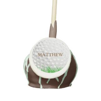 Golf Ball in Grass Custom Cake Pops