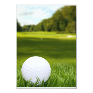 Golf Ball In Grass Invitation