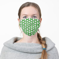 Golf Ball in Grass Pattern Corona Virus COVID19 Cloth Face Mask