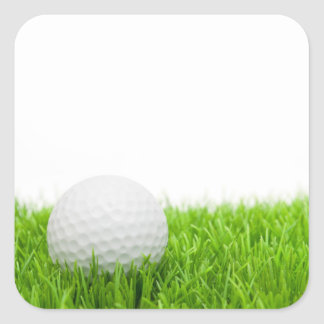 Golf Ball In Grass Square Stickers