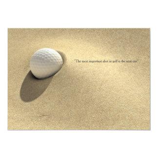 Golf Ball In Sand Trap Motivational Card