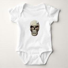 Golf Ball in Skull Baby Bodysuit