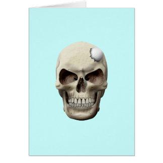 Golf Ball in Skull Card