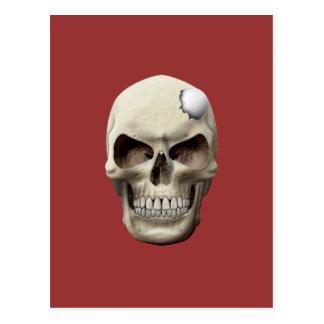 Golf Ball in Skull Postcard