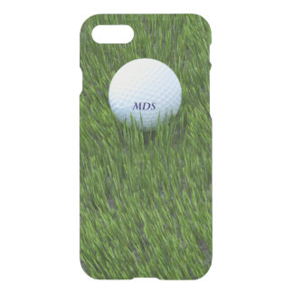 Golf Ball in the Rough Green Grass Monogram iPhone 8/7 Case