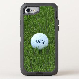 size 40 236ed 49033 Golf Ball In the Rough Personalized OtterBox Defender iPhone 8/7 Case