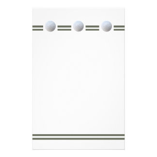 """""""Golf Ball in Triplicate"""" Personalized Stationery"""