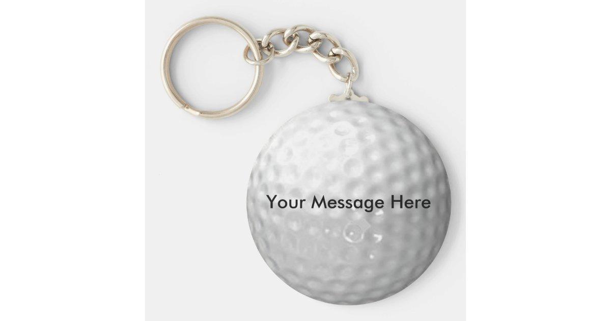 golf ball key chain. Black Bedroom Furniture Sets. Home Design Ideas