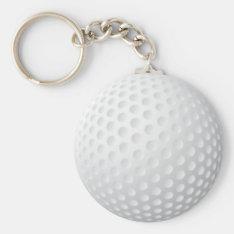 Golf Ball Keychain at Zazzle