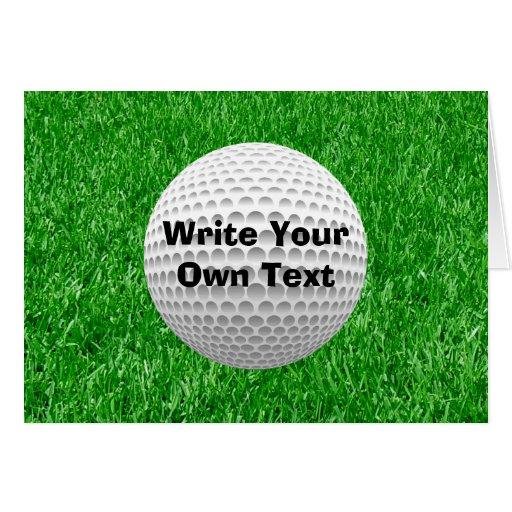 Golf Ball & Lawn Card