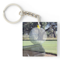 Golf Ball Layered Composition, Keychain