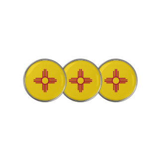 Golf Ball Marker with Flag of New Mexico, USA