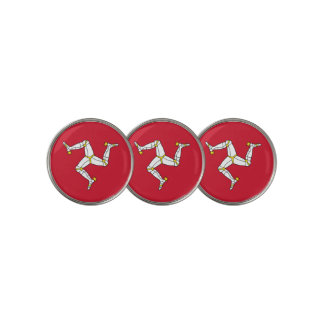 Golf Ball Marker with Isle of Man Flag