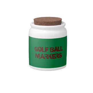 GOLF BALL MARKERS CANDY JAR