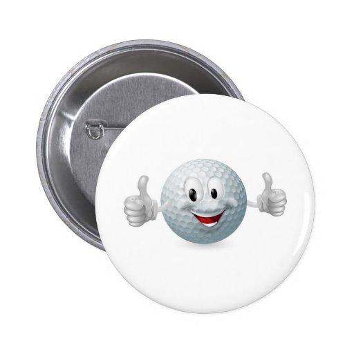 Golf Ball Mascot Pins