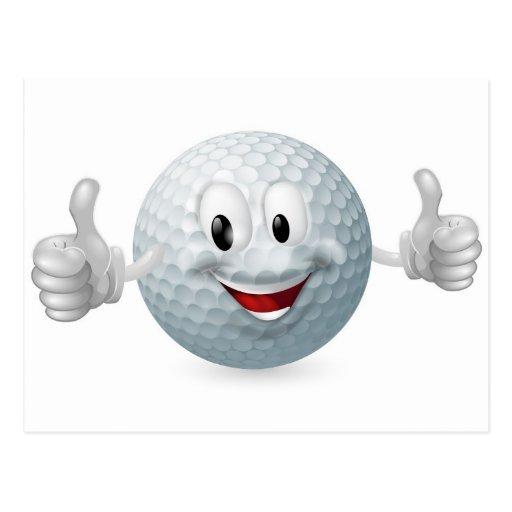 Golf Ball Mascot Postcard