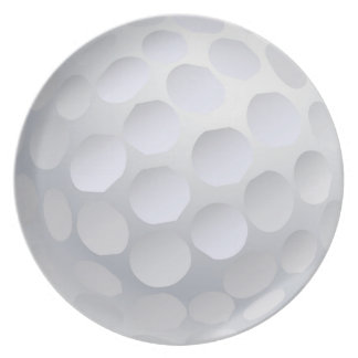 Golf Ball Melamine Plate