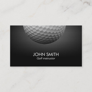 Golf Ball Metal Background Professional Golf Business Card