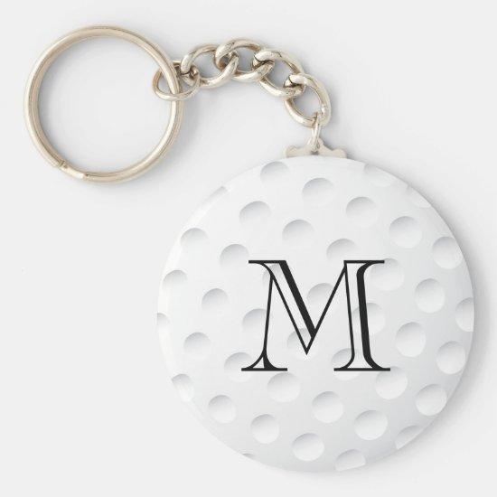 Golf Ball Monogram Keychain