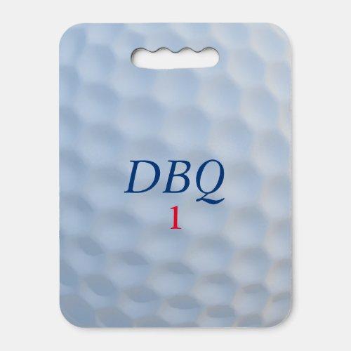 Golf Ball Monogram Spectator Seat Cushion