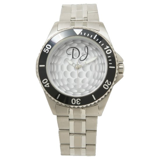 Golf ball, monogram, watch