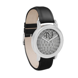 Golf ball, monogram, watches