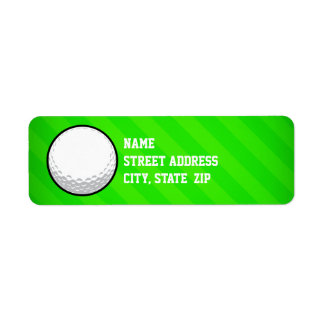 Golf Ball; Neon Green Stripes Label