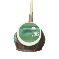 Golf ball next to hole cake pops