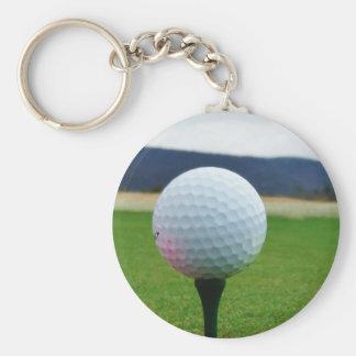 Golf Ball on a mountain golf course Keychain