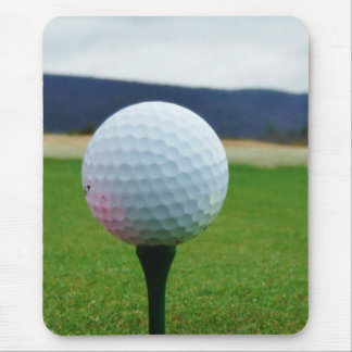 Golf Ball on a mountain golf course Mouse Pad