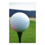 Golf Ball on a mountain golf course Personalized Stationery