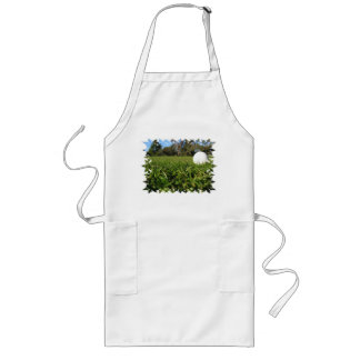 Golf Ball on Course Long Apron