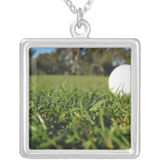 Golf Ball on Course Necklace