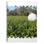 Golf Ball on Course Notebook
