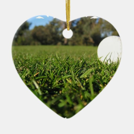 Golf Ball on Course Ornament