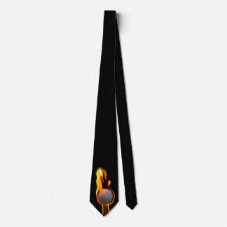 Golf-Ball on Fire Tie